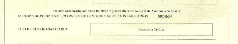 Autorizacion Banco de Tejidos