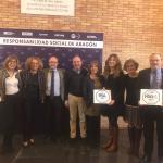 Entrega del Sello RSA y RSA+ 2019 el 18/12/18 por el Gobierno de Aragón